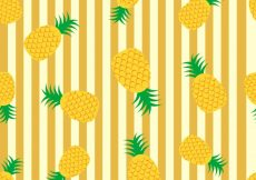 Free vector Pineapple pattern background #10279