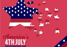 Free vector Pink background with stars for independence day #8772