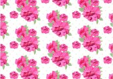 Free vector Pink flowers patter background #5801