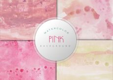 Free vector Pink watercolor background collection #7579
