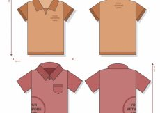 Free vector Polo shirt template with mesures #5267