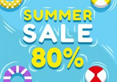 Free vector Pool summer sale background with floats #10172