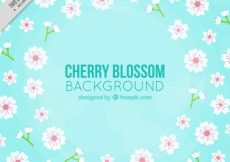 Free vector Pretty background of cherry blossoms #10952
