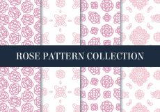 Free vector Pretty decorative patterns of hand-drawn roses #3695
