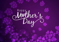 Free vector Purple mothers day design with flowers #4261