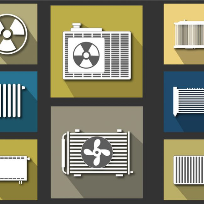 Free vector Radiator Icon Flat Vector Set #7587