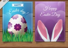 Free vector Realistic greeting cards for easter day #11589