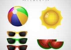 Free vector Realistic pack of summer elements #5485