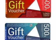 Free vector Red and blue gift voucher #4866