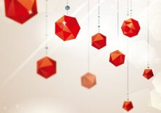 Free vector Red crystal ornaments #3985