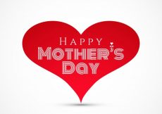 Free vector Red heart mothers day design #4271