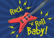 Free vector Rock and roll background #5393