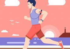 Free vector Runner background in flat design #5329