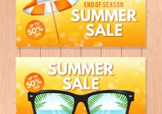 Free vector Sale banners with summer accessories #8500