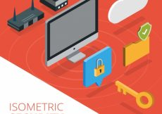 Free vector Security background with isometric elements #12033