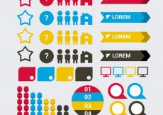 Free vector Selection of useful infographic elements #10457