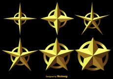 Free vector Set Of 3D Stars Vector Icons #6066