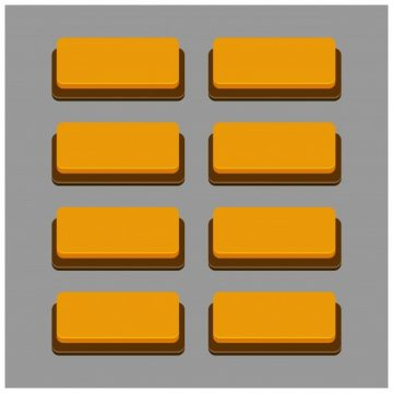 Free vector Set of 8 orange buttons #9239