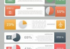 Free vector Set of banners with graphics for infographics #9991