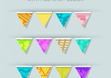 Free vector Set of birthday garlands in abstract design #10768