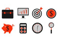 Free vector Set Of Business Icons #6427
