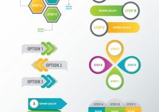 Free vector Set of decorative infographic elements with variety of options #10439