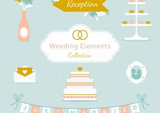 Free vector Set of decorative wedding elements #9165