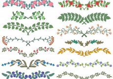 Free vector Set of dividers in nature design #4437