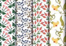 Free vector Set of floral patterns #4431