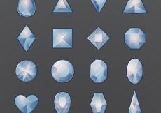 Free vector Set of gemstones with different kind of designs #4667