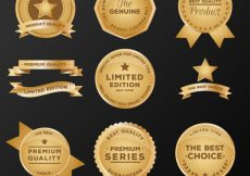 Free vector Set of premium stickers and ribbons #10349