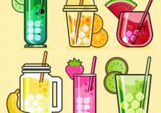 Free vector Set of refreshing juices #3903