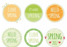 Free vector Set of spring 2017 stickers #11481