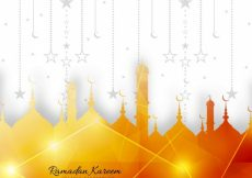 Free vector Shiny decorative ramadan kareem design #9363