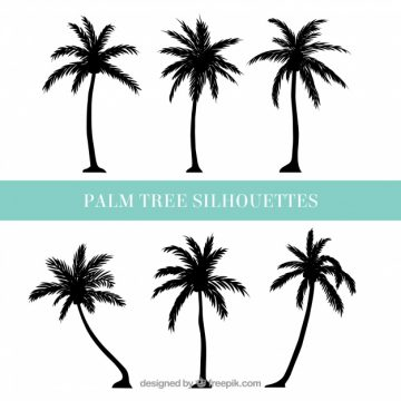 Free vector Silhouettes of palm trees #3727