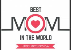 Free vector Simple mother's day lettering illustration #6414