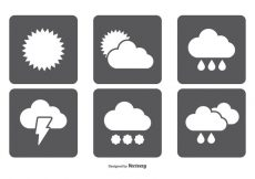 Free vector Simple Weather Icon Set #7007
