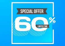 Free vector Sixty percent discount background design #7188