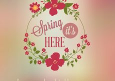 Free vector Spring it's here background #8980