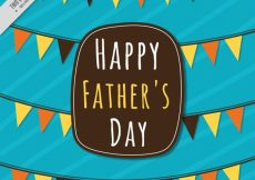 Free vector Striped father's day background with decorative garlands #11439