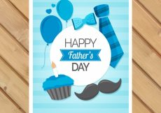 Free vector Striped greeting card with masculine accessories #7297