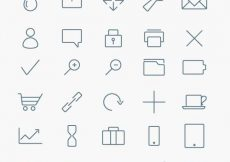 Free vector Stylized Minimalist Icon Collection (Vector) #4000