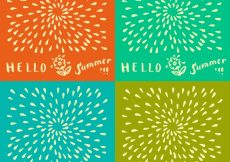 Free vector Summer backgrounds collection #10714