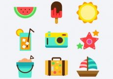 Free vector Summer object pack #8530