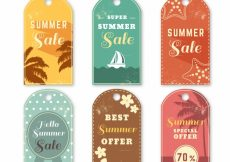 Free vector Summer sale tags in vintage style #4027