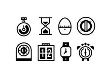 Free vector Timer Outlined Vector Icons #8044