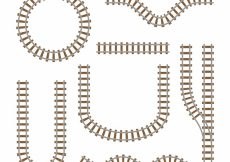 Free vector Train track collection with different shapes #3884