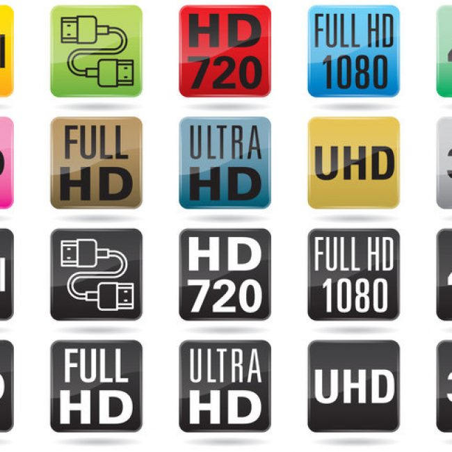 Free vector TV Resolution Buttons #6845