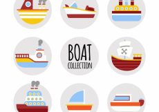 Free vector Variety of colored boats in flat design #5199