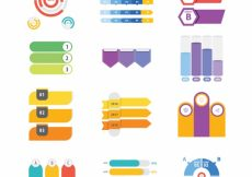 Free vector Variety of flat elements for infographics #10455